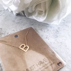 Jewelry - NEW! Dainty Initial Necklace | Brushed Gold Silver